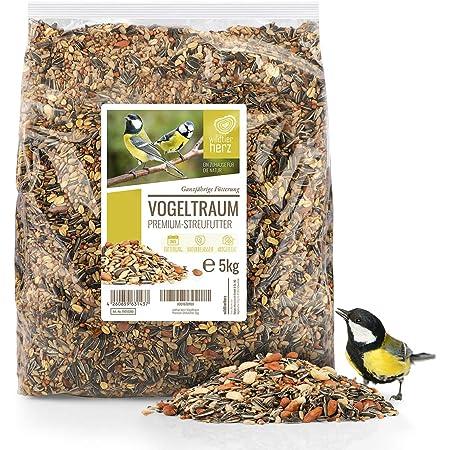 Rêve d'Oiseau - Graines pour Oiseaux Sauvages sans Blé [5kg] I Nourriture Vivaces pour Oiseaux I Graine Oiseaux Exterieur, Manger Oiseaux