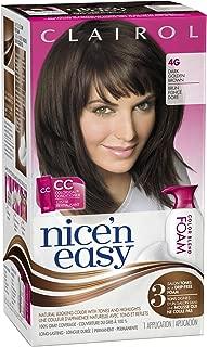 Clairol Nice 'n Easy Foam Hair Color 4G Dark Golden Brown 1 Kit (packaging may vary)