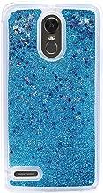 Girl Glitter Liquid Case for LG Stylo 3 2017 LS775 4 Plus Aristo 2 X210 K10 2018 Cover Shiny Sequin Bling Phone Cases,Blue,for LG Aristo 2