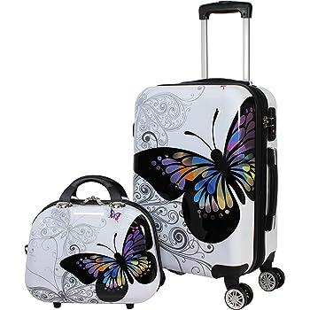 Parisian Nights World Traveler 25DJ-9459-PARISNIGHT Dejuno 3-Piece Lightweight Hardside Spinner Upright Luggage Set