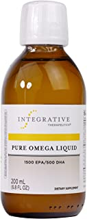 Integrative Therapeutics - Pure Omega Liquid Fish Oil - Natural Lemon Flavor - 2300 mg Omega 3 Fatty Acids with EPA and DH...