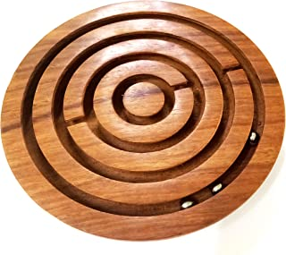 diollo Labyrinth Wooden Board Games, Ball-in-a-Maze Puzzles Game for Kids, Adults, Teens, Boy & Girl Child - Handcrafted in India -5