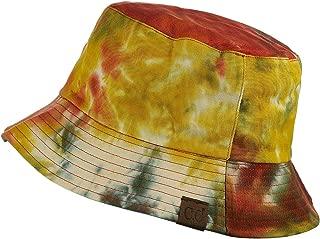 C.C Unisex 100% Cotton Packable Reversible Tie Dye Bucket Sun Hat