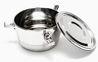 Onyx 18/10 Stainless Steel Three Clip Airtight Food Bowl, 3.5 Inch (8cm)