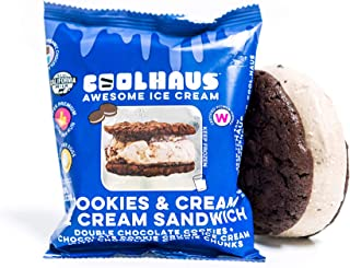 Coolhaus Ice Cream Sandwich, Double Chocolate Cookies + Cream, 5.8 oz
