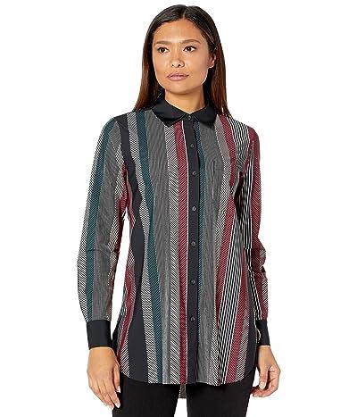 Lysse Fashion Schiffer Stretch Microfiber Button-Down Top (Power Stripe) Women