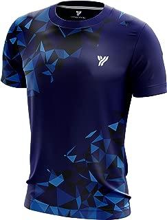 YANG-YANG Men's Short Sleeve Badminton T-Shirt Tournament Tee 100% Polyester