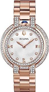 Bulova - Reloj Analógico para Mujer de Cuarzo con Correa en Acero Inoxidable 98R250