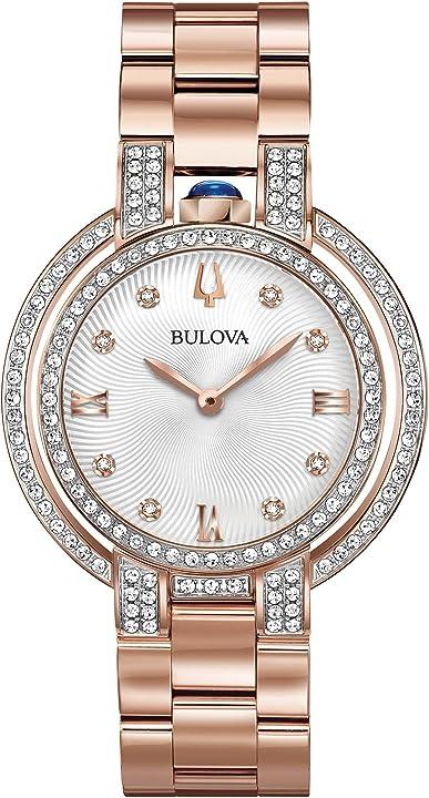 Orologio donna bulova analogico quarzo con cinturino in acciaio inox 98r250