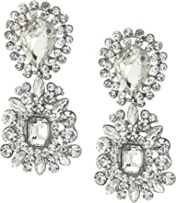 Nina 2 Part Crystal Cluster Hanging Earrings