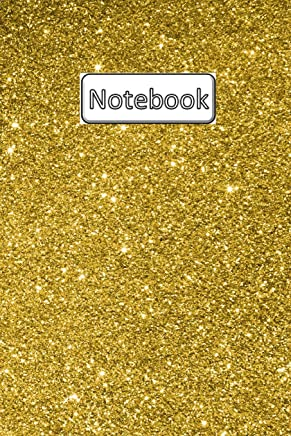 Notebook: 6 x 9, Wide Ruled, 120 pages, Journal, Diary, Composition Book, Glitter
