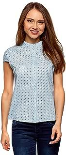 Ultra Women's Stand Collar Shirt with Short Raglan Sleeve