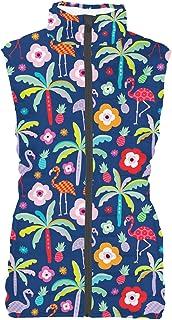 Rainbow Rules Flamingo Paradise Womens Puffer Vest Bodywarmer Gilet