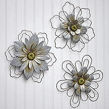 Amazon Com Flower Metal Wall Art Decor