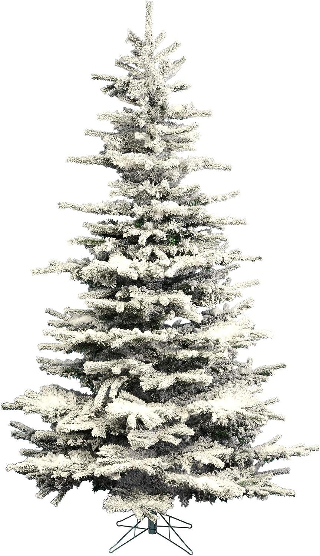 Vickerman A surprise price is realized 8.5' Popular Flocked Sierra Fir Tree Unl Christmas Artificial