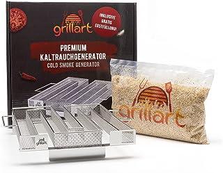 grillart® Wysokiej jakości generator zimnego dymu wraz z pierwszym napełnieniem gratis – piec wędzarniczy wyprodukowany ze...