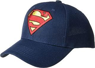 DC Comics Men's Superman Baseball Cap, Royal Blue/Embroidered
