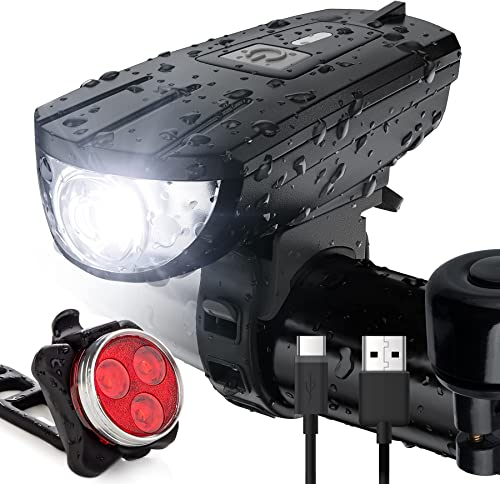 discount Vont 'Breeze' Rechargeable outlet sale Bike Light Set, Bicycle Light, Instant Install without Tools, Fits All Bikes - 3 Modes, Bike Lights Front and Back Illumination - Waterproof, sale Lightweight, Durable online