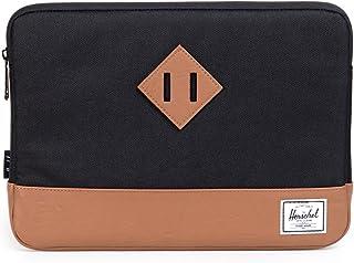 Herschel Heritage Sleeve for 12 Inch MacBook, Black/Tan Synthetic Leather