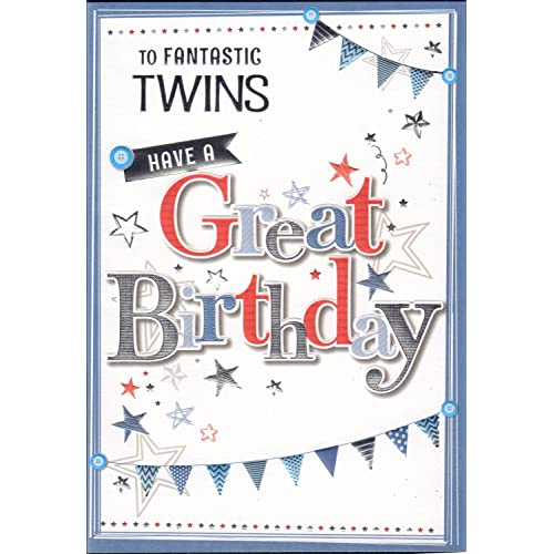 Twins Birthday Cards Amazoncouk