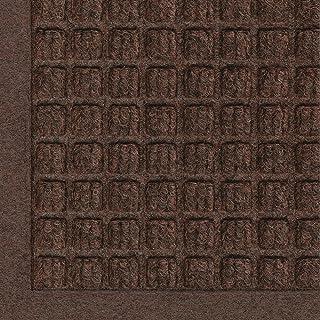 """M+A Matting 280 WaterHog Fashion Polypropylene Fiber Entrance Indoor/Outdoor Floor Mat, SBR Rubber Backing, 12' Length x 4' Width, 3/8"""" Thick, Dark Brown"""