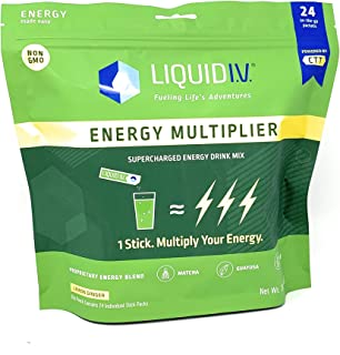 Liquid I.V. Liquid I.V. Energy Multiplier Lemon Ginger Energy Drink Mix (Net Wt 11 Ounce ),, ()