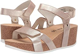 Blush Metallic Suede