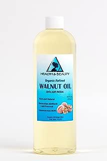 Walnut Oil Organic by H&B OILS CENTER Cold Pressed Premium Quality Natural 100% Pure 16 oz