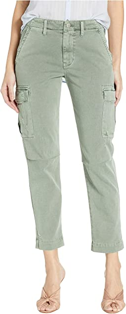 Jane Slim Cargo Pants in Distressed Sage