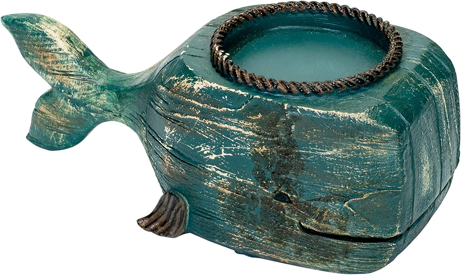 Drew Derose Nautical Whale Distressed Blue x 4 Indianapolis Mall Ceramic Attention brand 10 Candle