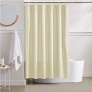 AmazonBasics Waffle Texture Shower Curtain - 72 Inch, Beige