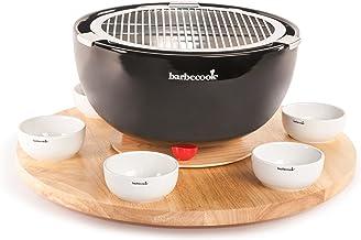 Saey Home & Garden Barbecook Draaitafel met 6 kopjes, Bruin, 49x49x8.5 cm