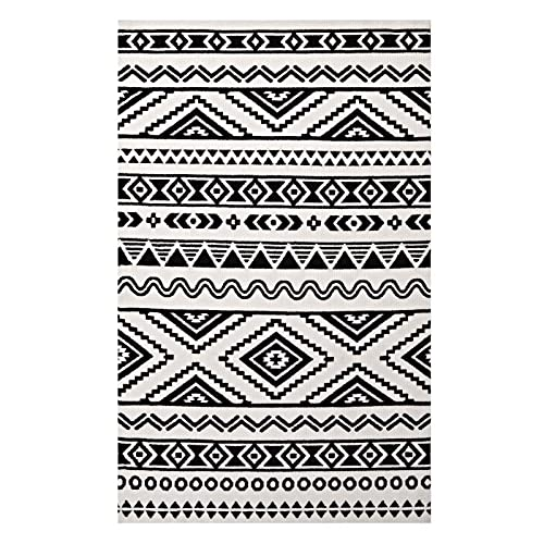 Black And White Area Rugs Amazoncom