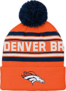 NFL Boys Denver Broncos Kids & Youth Boys Jacquard Cuffed Knit Hat with Pom