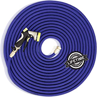 Plenty of Hose Flexible Garden Hose - Expandable - 150 Foot Water Hose - Extra Strength Latex Core, No Kink - Comes with Heavy Duty Brass Fittings and Spray Gun