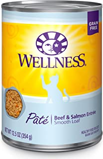 Wellness Complete Health Natural Grain Free Wet Canned Cat Food Pate Recipe Beef & Salmon Pate