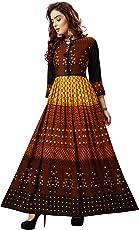 Madhuram Textiles Women's Rayon Anarkali Kurta
