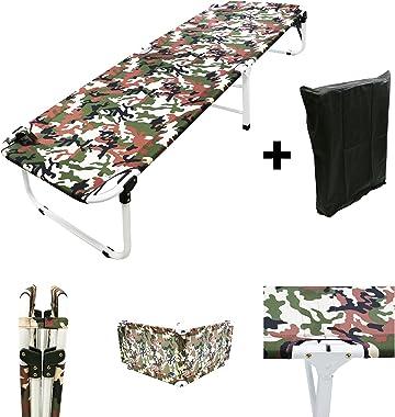 MagshionArmy/Camo Camping Folding Military Cot Outdoor + Free Storage Bag