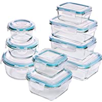 18-Pieces Utopia Kitchen Glass Food Storage Containers