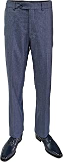 (Dunhill - Blue Comfort-EZE Wool Houndstooth Trousers