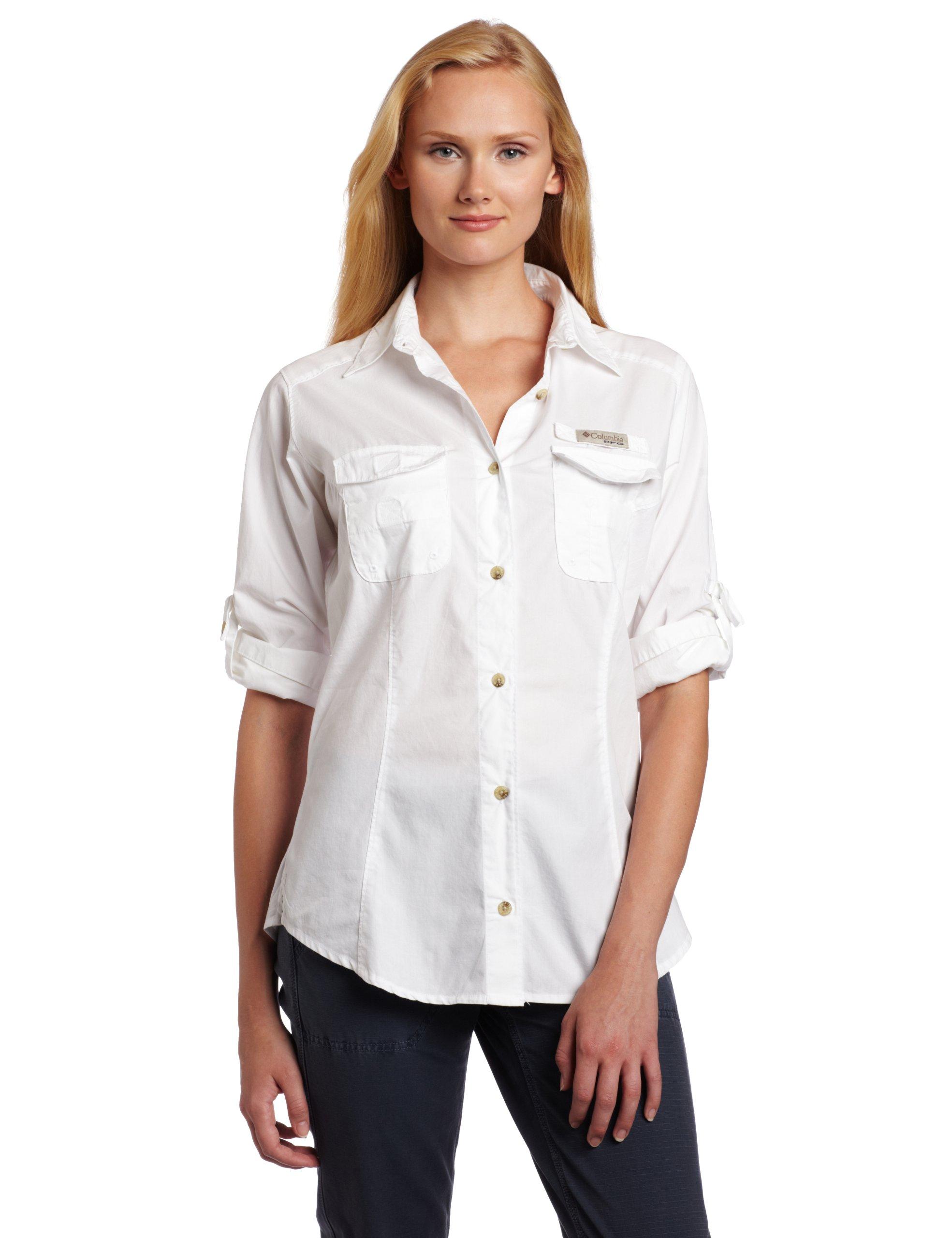 Columbia Camisa de pesca de manga larga Bonehead de mujer (Blanco, X-Large): Amazon.es: Deportes y aire libre
