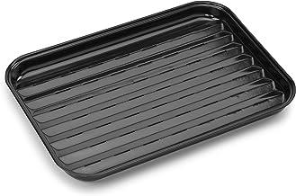 Barbecook Grillpfanne Emaille wiederverwendbare Grillschale eckige Universal 34.5-x-24 cm