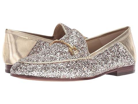 b47c1784e221 Sam Edelman Women's Loraine Glitter & Gold Leather Loafers In Molten ...
