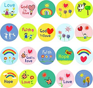 500 pcs Kid-Drawn Christian Faith Shape Stickers