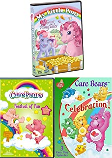 Ponies & Bear Tales My Little Pony Glass Princess & Magic Coins + CareBears Festival of Fun TV Episodes Care Bears Celebration Triple Pack Laugh / Parade / Trains / Big top / Fair / Music Video