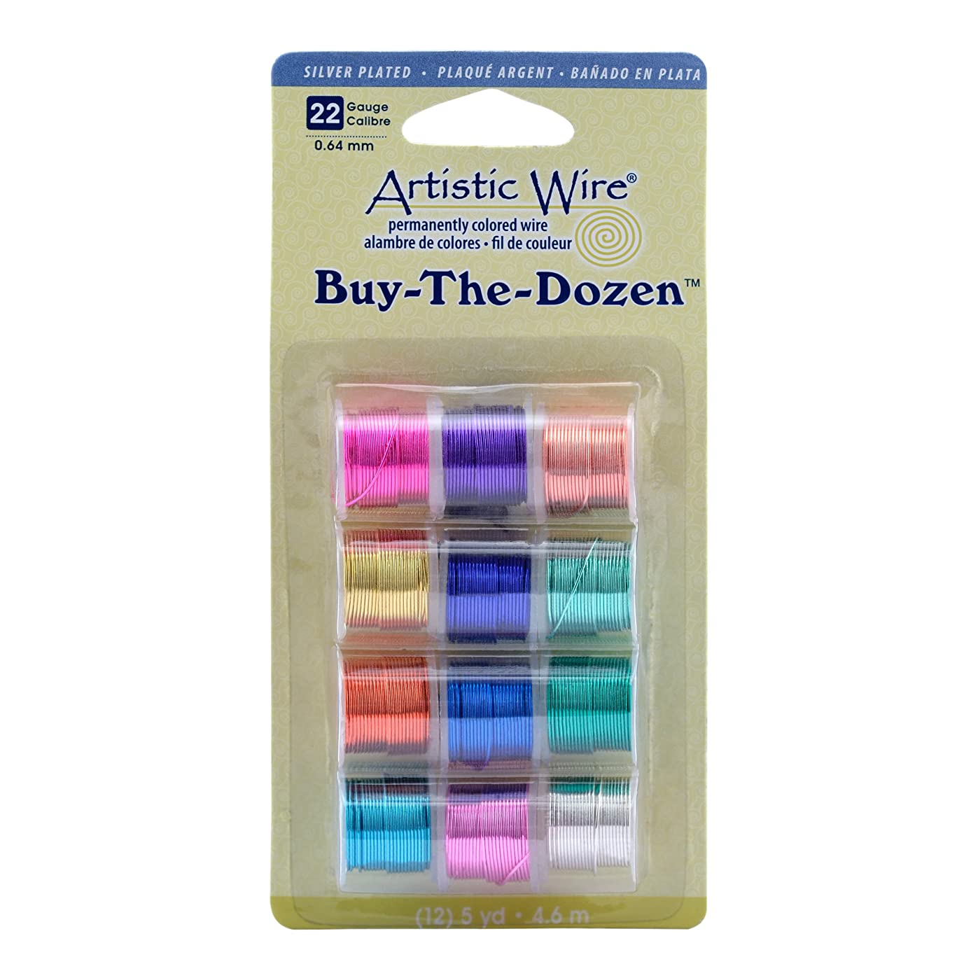 Artistic Wire 22-Gauge Silver Plated Buy-The-Dozen Wire
