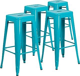Fine Amazon Com Blue Barstools Home Bar Furniture Home Interior Design Ideas Clesiryabchikinfo