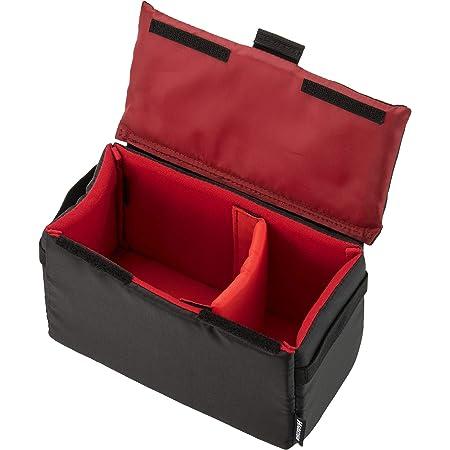 HAKUBA カメラケース インナーソフトボックス02 200 仕切り調整可 サイドハンドル&取り外せるフタ付き ブラック 2KCS-40-200BK