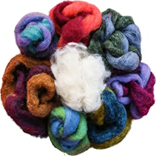 100% Wool - Assorted Wool Roving Ends & White Natural Wool for Needle Felting