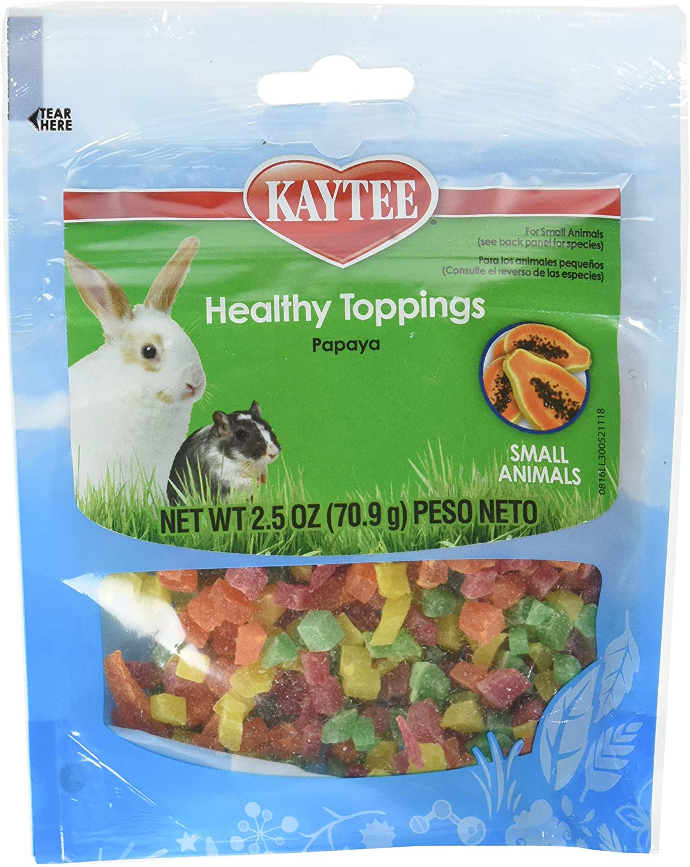 (12 Pack) Kaytee Fiesta Papaya Topping Healthy Treats for Small Animal, 2.5Ounce Each